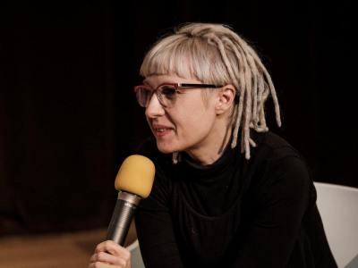 Fotorelacja: 5 LISTOPADA Czytanie performatywne II, Wykład profesora Mmaa S. Themerson, reż. Michał Telega, Nowe Formy Teatru