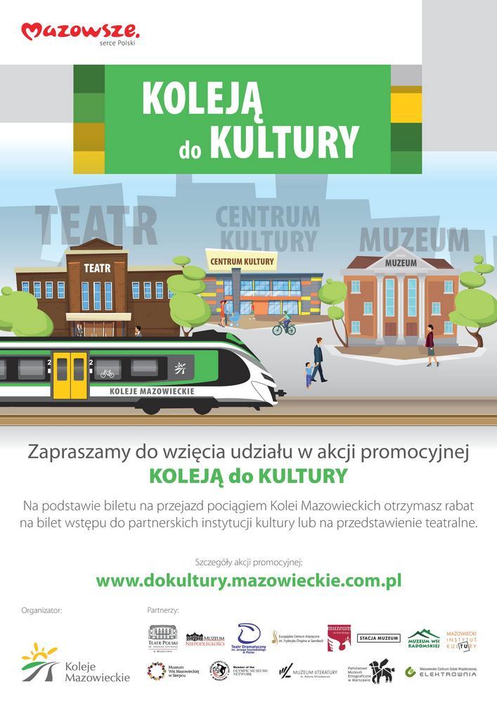 Plakat akcji Koleją do kultury