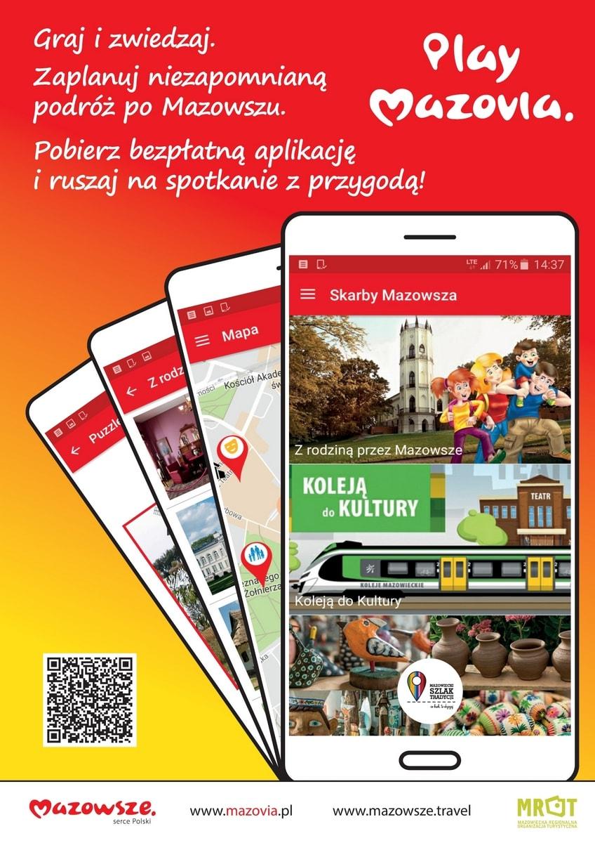 Plakat aplikacji Play Mazovia