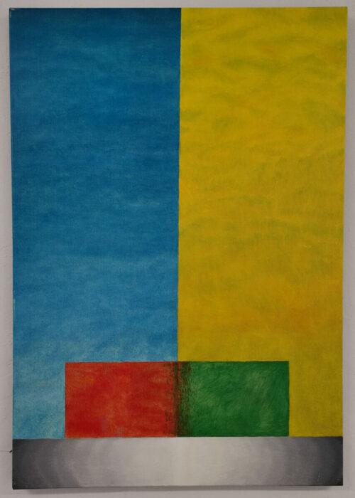 praca kacpra pieńka, abstrakcja, barwne prostokąty