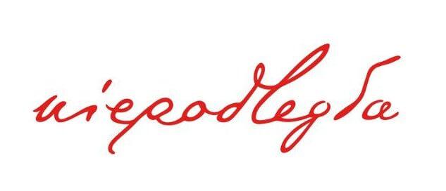 logo projektu - słowo niepodległa zapisane pismem pochyłym