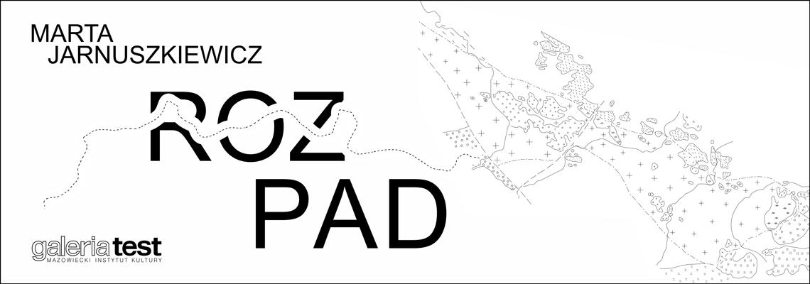 grafika: na białym tle zarys mapy i napis Rozpad
