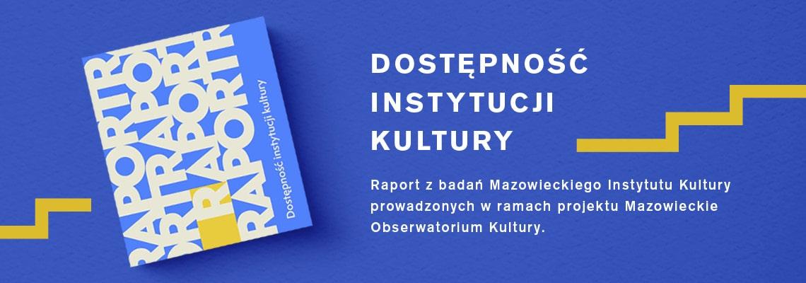 grafika: okładka książki na niebieski tle, napis dostępność instytucji kultury