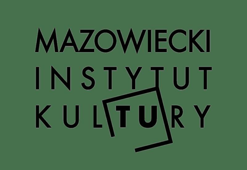 grafika: logotyp mik w postaci napisu Mazowiecki Instytut Kultury