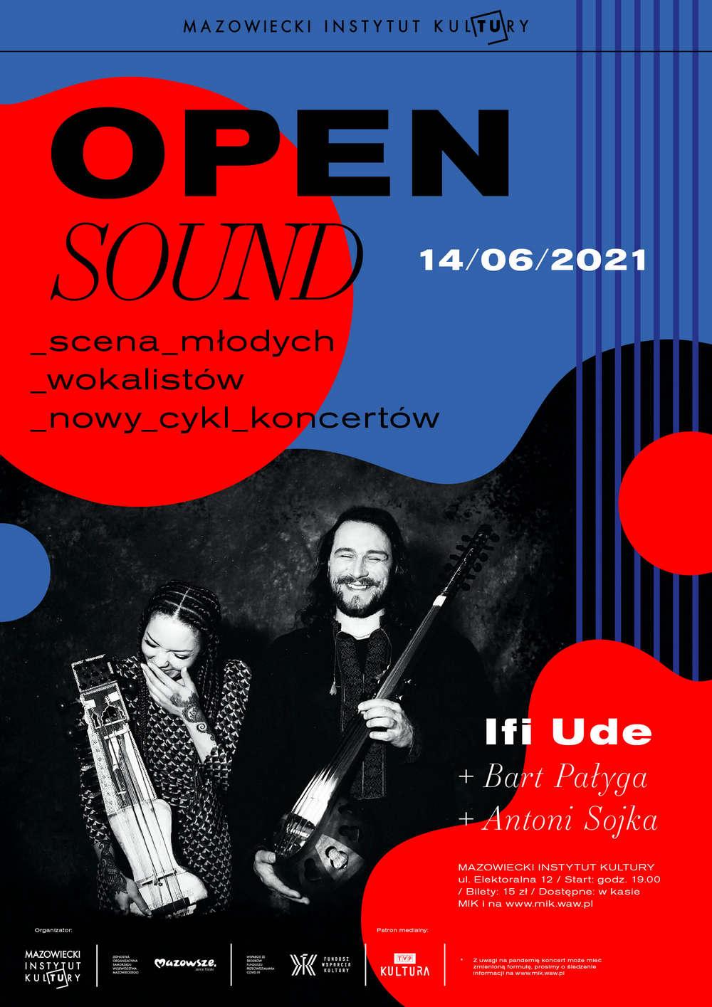 plakat koncertu z fotografią wykonawców