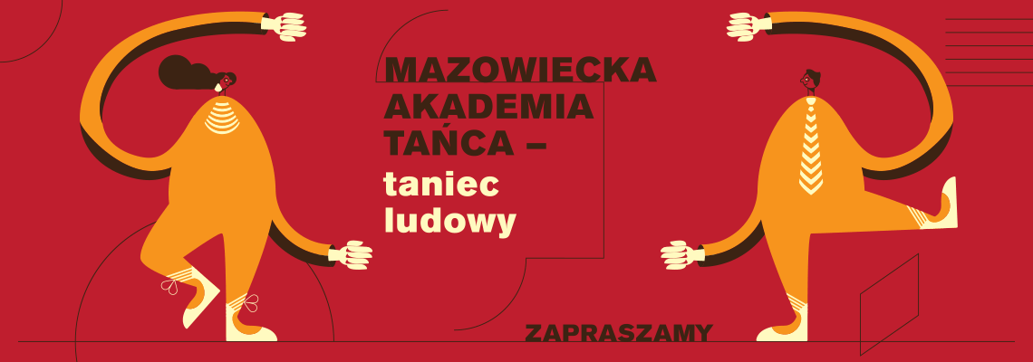 plansza graficzna z napisem Mazowiecka Akademia Tańca taniec ludowy