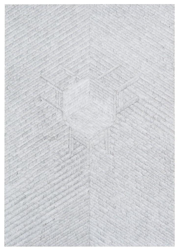 abstrakcja: jasnoszara tonacja, linie przecinające się pod kątem