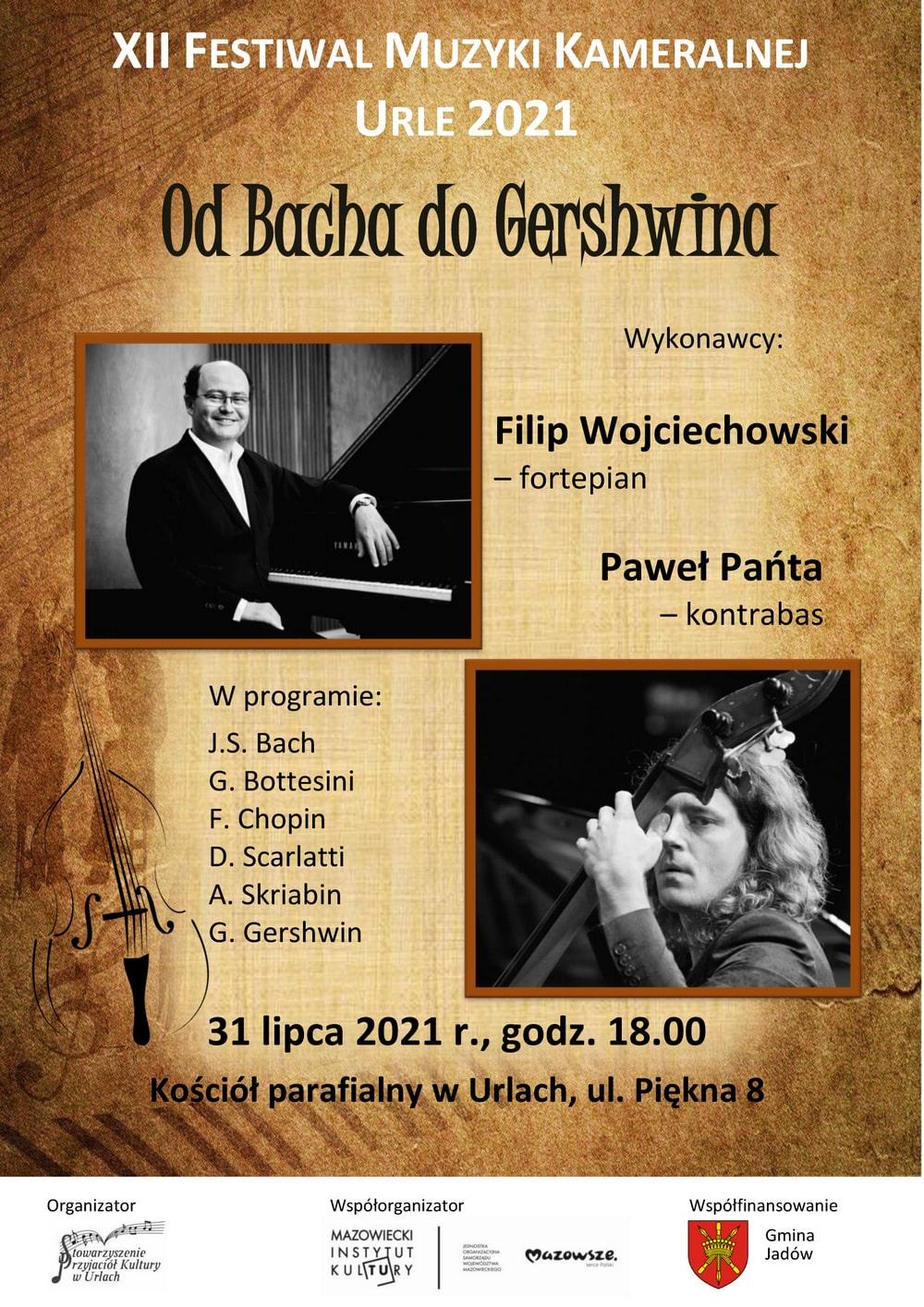 plakat: zdjęcia wykonawców oraz napis 12 festiwal muzyki kameralnej w urlach