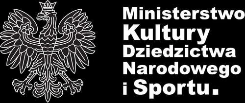 grafika: czarna plansza z godłem Polski i napisem Ministerstwo Kultury Dziedzictwa Narodowego i Sportu