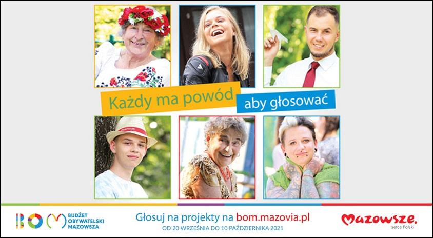 Do 10 października | Zagłosuj w 2. edycji Budżetu Obywatelskiego Mazowsza