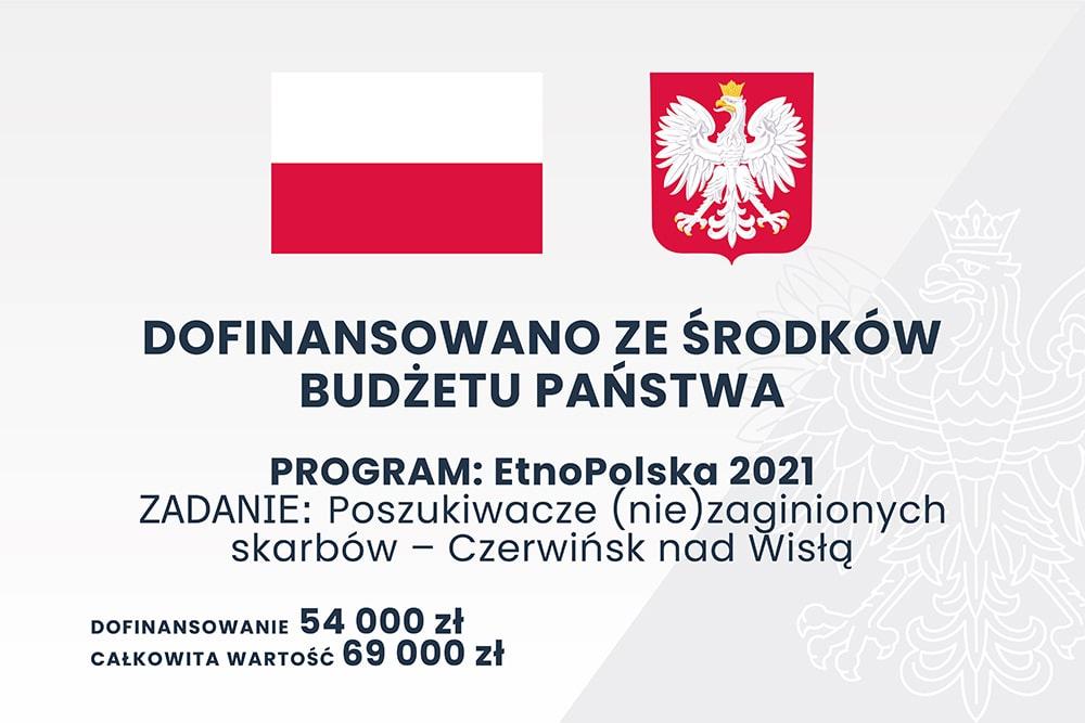 grafika: urzędowa plansza z godłem polski i napisem dofinansowano z budżetu państwa